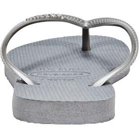 havaianas Slim Flips women steel grey